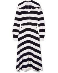 CALVIN KLEIN 205W39NYC - Striped Stretch-jersey Midi Dress - Lyst
