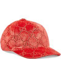 Gucci - Metallic Velvet-jacquard Baseball Cap - Lyst