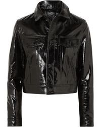 Ksubi - A2b Textured Patent-leather Jacket - Lyst