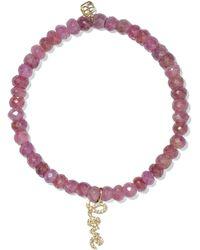 Sydney Evan - Love Sapphire, Diamond And 14-karat Gold Bracelet Gold One Size - Lyst