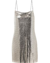 Alice + Olivia - Harmony Chainmail Mini Dress - Lyst