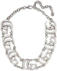 Gucci - Silver-plated Necklace - Lyst