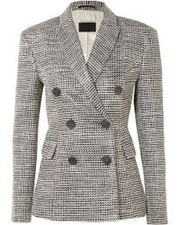By Malene Birger - Zozima Double-breasted Cotton-blend Tweed Blazer - Lyst