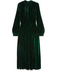 Raquel Diniz - Alma Silk-velvet Midi Dress - Lyst