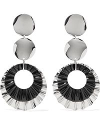 Isabel Marant - Silver-plated Earrings Silver One Size - Lyst