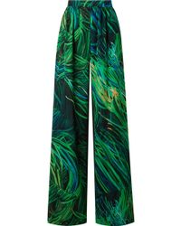 Elie Saab - Printed Silk-georgette Wide-leg Pants - Lyst