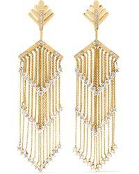 Yvonne Léon - 18-karat Gold Diamond Earrings - Lyst