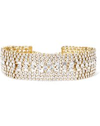 Rosantica - Luci Gold-tone Crystal Choker Gold One Size - Lyst