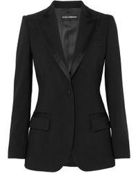 Dolce & Gabbana - Satin-trimmed Wool-blend Crepe Blazer - Lyst