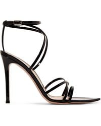 Gianvito Rossi - 105 Patent-leather Sandals - Lyst