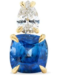 Anita Ko - 18-karat Gold, Sapphire And Diamond Earring - Lyst