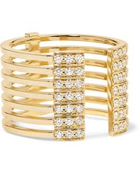 Melissa Kaye - Izzy 18-karat Gold Diamond Ring Gold 7 - Lyst
