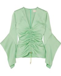 Peter Pilotto - Ruched Satin Top - Lyst