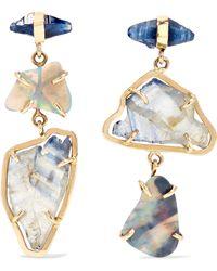 Melissa Joy Manning - 14-karat Gold, Sapphire And Opal Earrings - Lyst