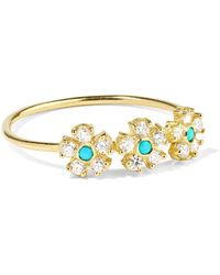 Jennifer Meyer - 18-karat Gold, Diamond And Turquoise Ring - Lyst