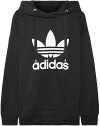Adidas Originals | Printed French Cotton-blend Terry Hooded Top | Lyst