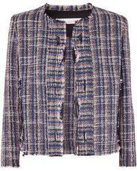 IRO - Frannie Distressed Cotton-blend Tweed Jacket - Lyst
