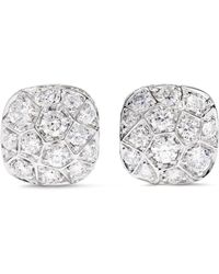 Pomellato - Nudo Solitaire 18-karat Rose And White Gold Diamond Earrings - Lyst
