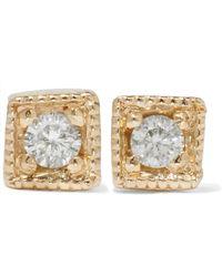 Jennie Kwon - Mini Square 14-karat Gold Diamond Earrings - Lyst