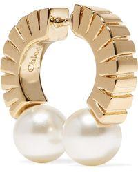 Chloé - Darcey Gold-tone Faux Pearl Earring - Lyst
