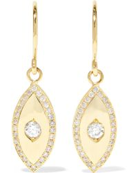 Jennifer Meyer - Evil Eye 18-karat Gold Diamond Earrings - Lyst