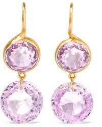 Marie-hélène De Taillac - 18-karat Gold Amethyst Earrings - Lyst