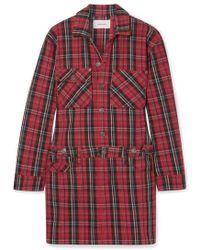Current/Elliott - Mini-robe En Jean Tartan - Lyst