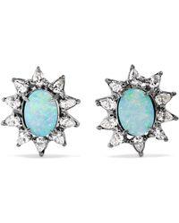 Kimberly Mcdonald - 18-karat Blackened White Gold, Opal And Diamond Earrings - Lyst