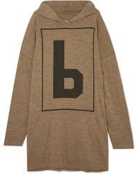 MM6 by Maison Martin Margiela - Oversized Wool-blend Jersey Hoodie - Lyst
