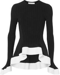 Esteban Cortazar - Asymmetric Ribbed-knit Sweater - Lyst
