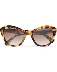 Miu Miu - Cat-eye Tortoiseshell Acetate Sunglasses Tortoiseshell One Size - Lyst