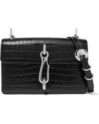 Alexander Wang - Hook Croc-effect Leather Shoulder Bag - Lyst