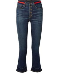 Veronica Beard - Carolyn Cropped High-rise Flared Jeans - Lyst