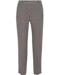 Carven - Checked Crepe Slim-leg Pants - Lyst