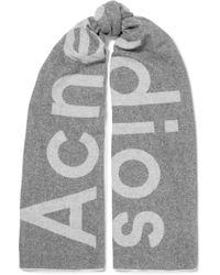 Acne Studios - Toronto Intarsia Wool-blend Scarf - Lyst