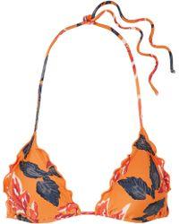 ViX - Tulum Floral-print Triangle Bikini Top - Lyst