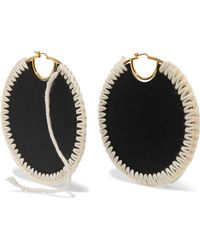 Loewe - Gold-plated, Leather And Wool Earrings - Lyst