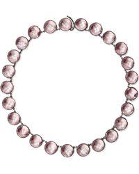 Larkspur & Hawk - Olivia Button Oxidized Sterling Silver Topaz Necklace Silver One Size - Lyst
