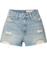 Rag & Bone - Maya Distressed Denim Shorts - Lyst