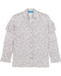 M.i.h Jeans - Baylis Ruffled Floral-print Cotton-voile Shirt - Lyst