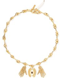 Chloé - Sloan Gold-tone, Enamel And Resin Necklace - Lyst