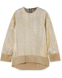 Stella McCartney   Oversized Metallic Jersey Sweatshirt   Lyst