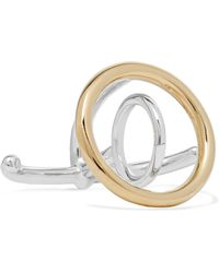 Charlotte Chesnais - Saturn Silver And Gold-dipped Ring - Lyst