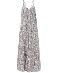 Marios Schwab - Tromelin Zebra-print Cotton-voile Maxi Dress - Lyst