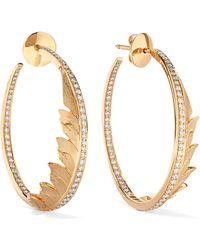 Stephen Webster - Magnipheasant 18-karat Gold Diamond Hoop Earrings - Lyst