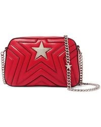 Stella McCartney - Star Quilted Faux Leather Shoulder Bag - Lyst