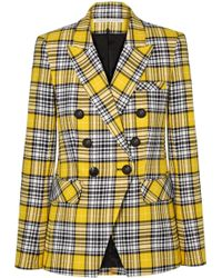 Veronica Beard - Miller Dickey Checked Cotton-blend Blazer - Lyst