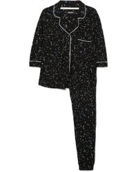 DKNY - Seeing Stars Printed Jersey Pajama Set - Lyst