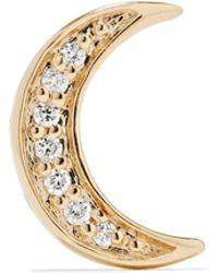 Andrea Fohrman - Mini Crescent 14-karat Gold Diamond Earring - Lyst
