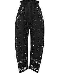 Isabel Marant - Eloma Embellished Cotton-canvas Tapered Pants - Lyst
